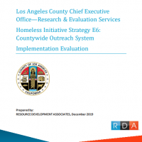 LA homelessness outreach evaluation